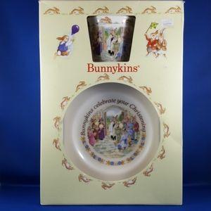BUNNYKINS Celebrate Your Christening 2-pc set, Boxed, Vintage 1991 Royal Doulton